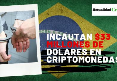 33 millones de dolares incautados en Brasil